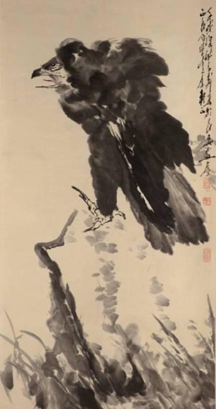 王子武 - 老鷹 133x68cm (預估價 NT1,500,000~2,000,000)