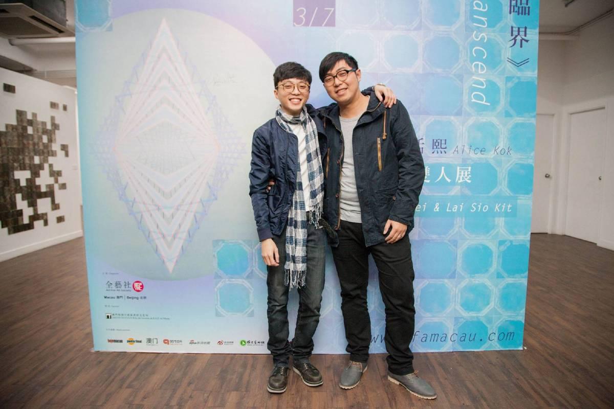 参參展藝術家黎小杰(左)与李英維(右)
