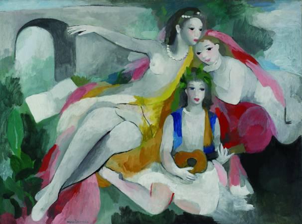 羅蘭珊,《三個年輕女子》。