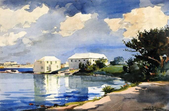 荷馬《百慕達,鹽釜》(Salt Kettle, Bermuda),1899。圖/取自wikiart。