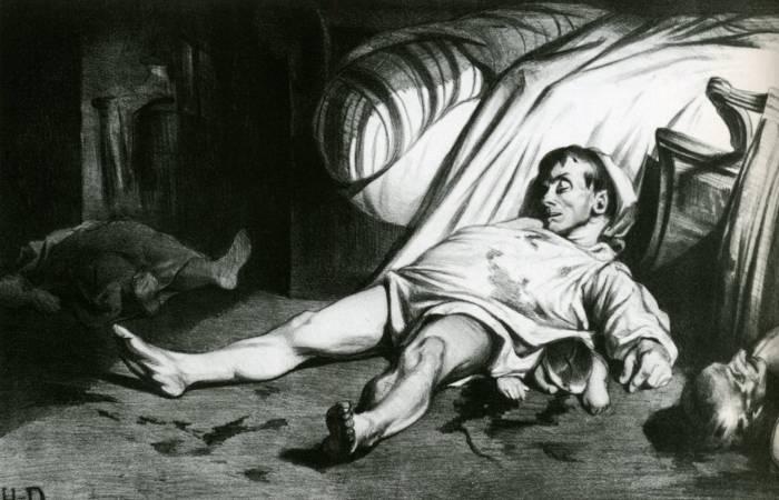 Honoré Daumier,《Transnonain Street 》。圖/取自wikiart。
