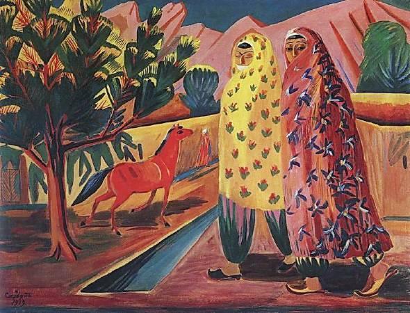 Martiros Saryan,《red horse》,1919。圖/取自wikiart。