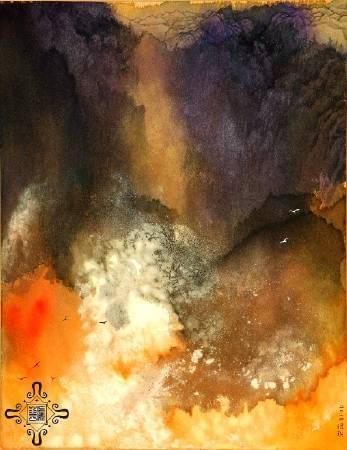 于傳騏,《氤嵐(三)》,2014。
