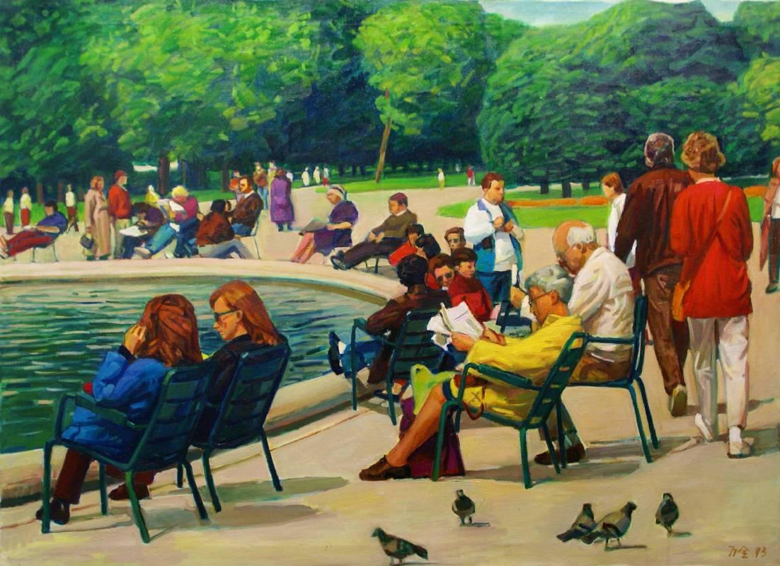 [法之春] 李萬全油畫個展 李萬全 羅浮宮旁 100x73cm (40P) 油畫 1993 阿波羅畫廊