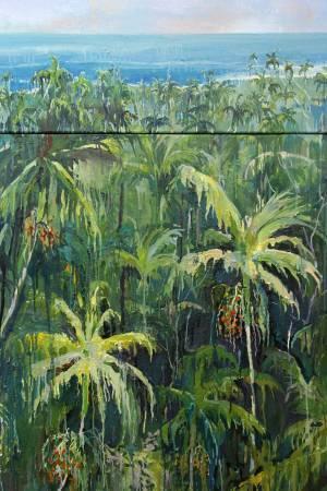 [構圖台灣] 洪乙丹 熱帶檳榔島 油畫 135x91cm 2014