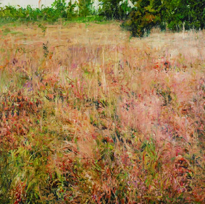 朱国强 那边的风景120x120cm2013年布面油画