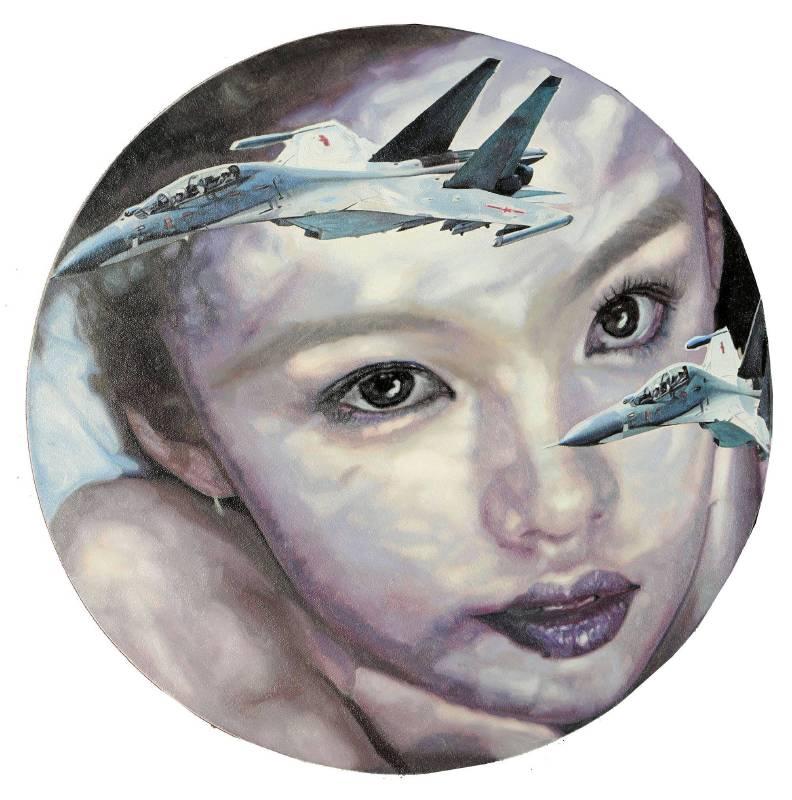 马堡中 交错;一个女人的梦11布面油画50x50cm2013