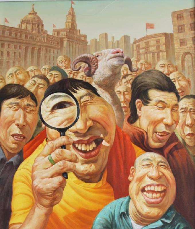 赵朔 我们的生活会更美好8尺寸130cmX150cm 布面油画 2012年