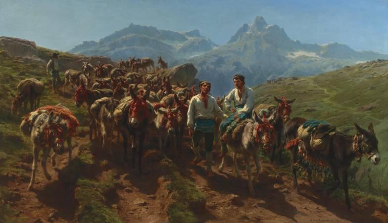Rosa Bonheur,《Spanish muleteers crossing the Pyrenees》。圖/取自維基百科