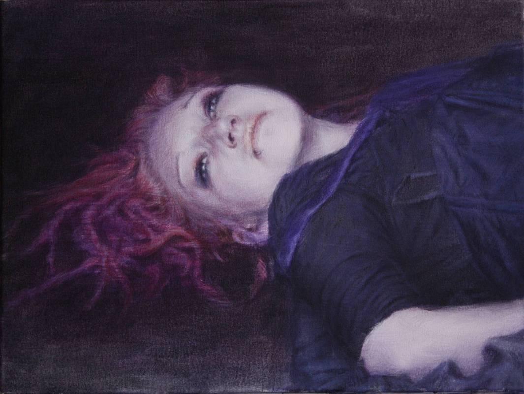 Jiyun Cheon_Gefangene (Lydia)_Oil on Canvas_30 x 40 cm_2014