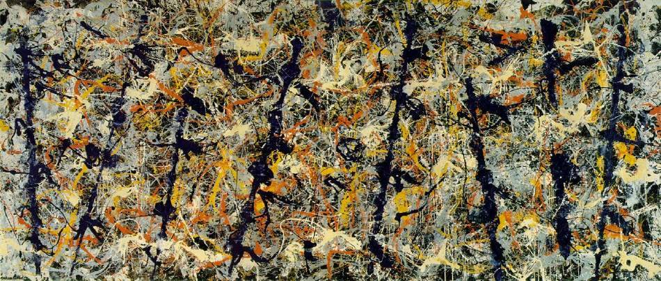 Jackson Pollock,《Blue-Poles》。圖/取自Wikiart