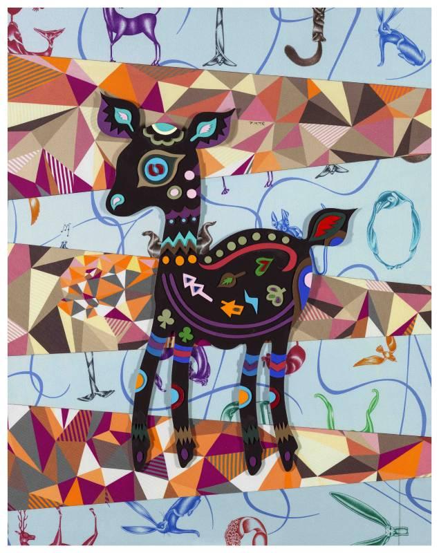 吳耿禎,《Dear Deer 愛馬仕》,2015。
