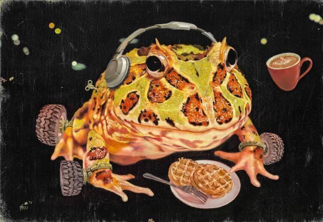 嚴靖傑,《人生角鬥士-蛙蛙品嚐》,2013。