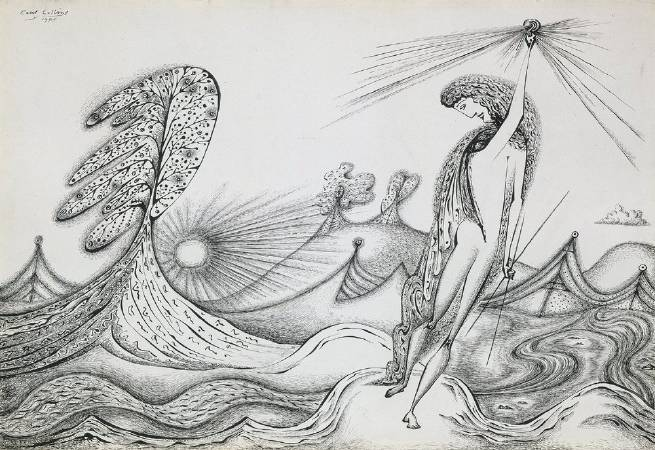 Cecil Collins,《HYMN》,1944。