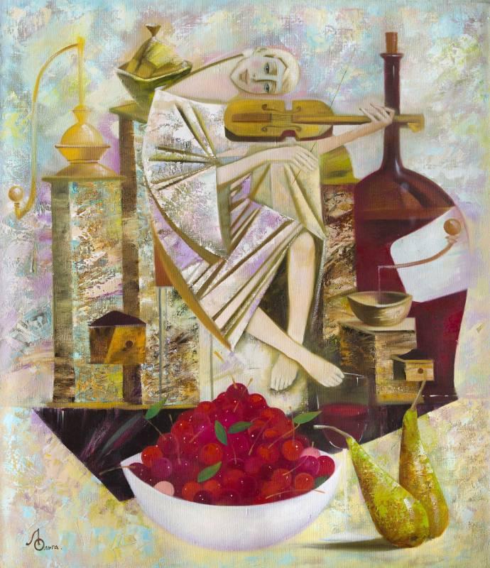 Olga Larionova《Evening Melody》Oil on Canvas_65×75cm_2011