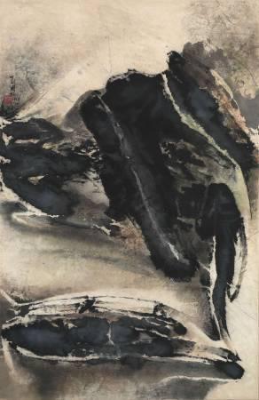 劉國松,《雪霽山河》。
