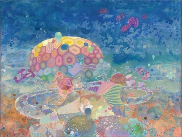 黃柏勳,《世界末日之後的世界,是一座繁花盛開的森林》,2015。圖/穎川畫廊提供。