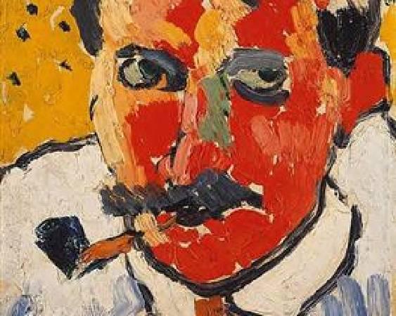 烏拉曼克,《德朗肖像》,圖/取自wikiart。