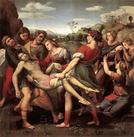 拉斐爾,《被取下十字架的耶穌》,圖/取自wikiart。
