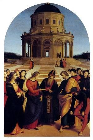 拉斐爾,《聖母的婚禮》(the-marriage-of-the-virgin),圖/取自wikiart。