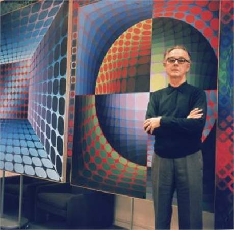 Victor Vasarely。圖/取自wikiart。