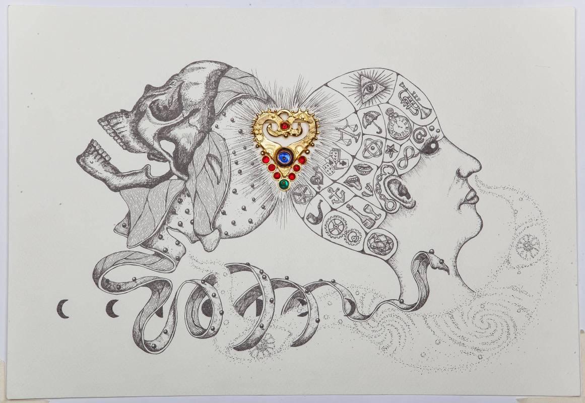 何思芃,迴之習作,2015,紙上作品,39 x 27 cm