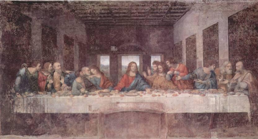 達文西《最後的晚餐》,1498。圖/取自Wikipedia。