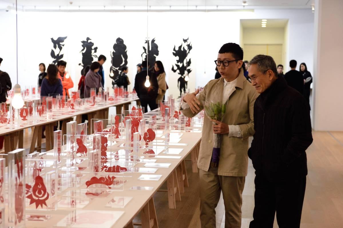 藝術家吳耿禎及雲門舞集創辦人林懷民。