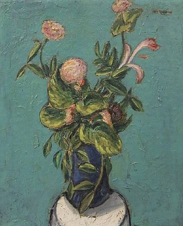 Alfred Maurer,Vase of Flowers,1915-1920