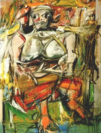 Willem de Kooning,《Woman I》,1952。圖/取自Wikiart。