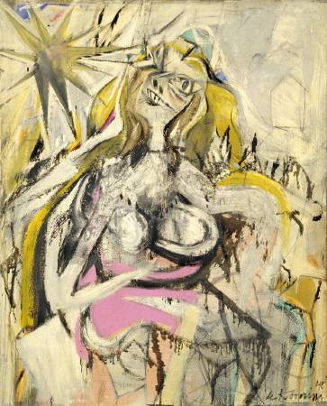 Willem de Kooning,《Woman Verso: Untitled》,1948。圖/取自Wikiart。