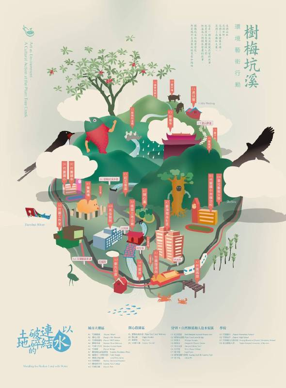 吳瑪悧與竹圍工作室《樹梅坑溪環境藝術行動》(2011~至今)
