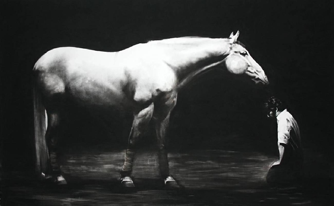 普拉姆海德拉,The Last Companion,190x300 cm,2014,炭筆畫布