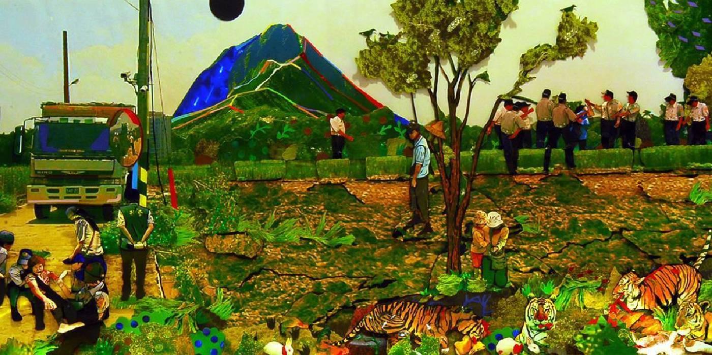 杜珮詩,玉山迷蹤 之一,HD定格動畫單頻道投影,2010,藝術家自藏