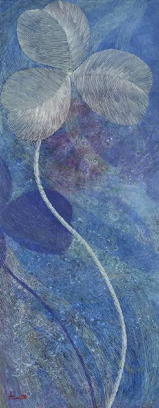 陳舜芝 A gift from the moonlight  2012   油畫 60x150cm