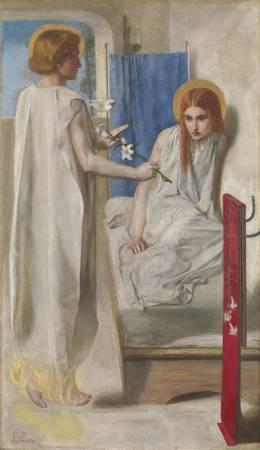 Dante Gabriel Rossetti,《Ecce Ancilla Domini!》。