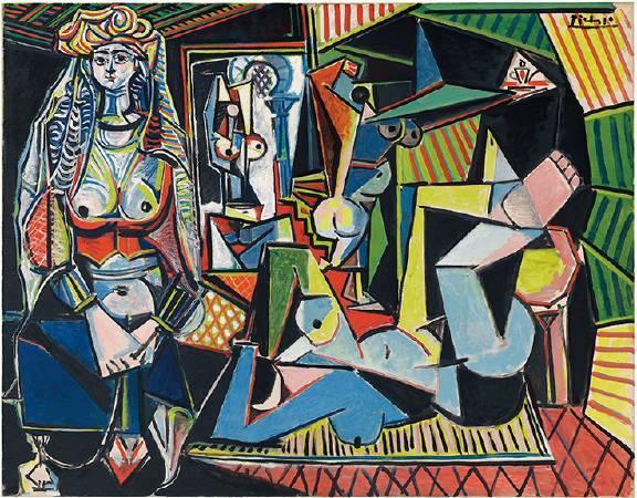 畢卡索《阿爾及爾的女人(O 版本)》。圖/取自Christie's。