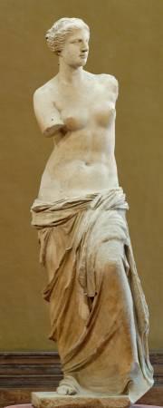 羅浮宮鎮館之寶「米洛的維納斯」。圖/取自Wikipedia。