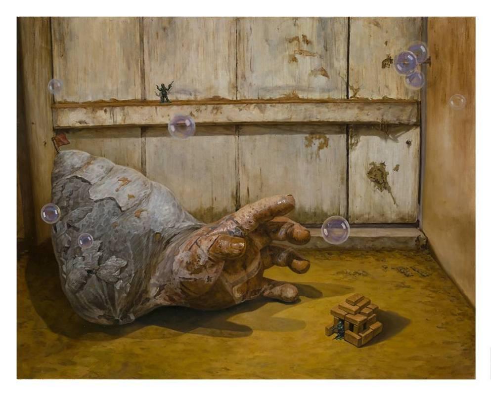廖文彬,《寄居蟹》,油畫,30號,2012
