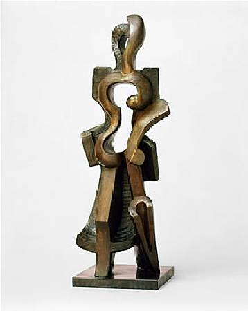 Alexander Archipenko,《 Walking Woman》,1912。