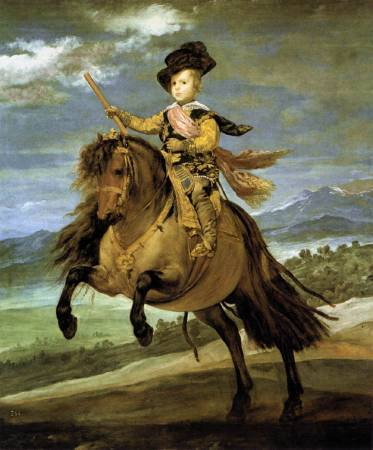 Diego Velázquez,《Prince Baltasar Carlos on Horseback》,1635-36。圖/取自Wikipedia