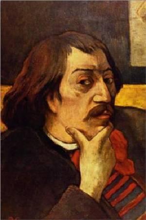 Paul Gauguin,《Self Portrait with the Idol》,1893。圖/取自wikiart