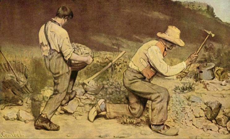 Gustave Courbet,《The Stone Breakers》,1849。圖/取自wikiart