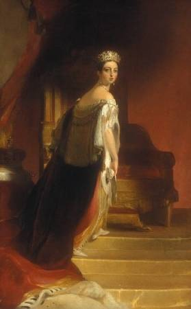 Thomas Sully,《Queen Victoria》,1838。圖/取自wikiart