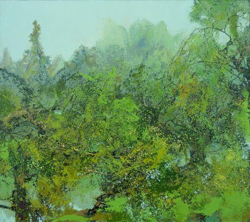 洪凌,《瑩然生翠》,2015。圖/索卡藝術提供。