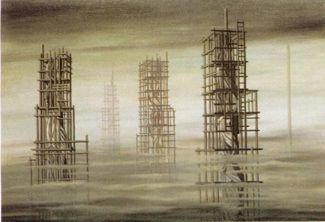 Kay Sage,《Tomorrow is Never》,1955。圖/取自wikiart。