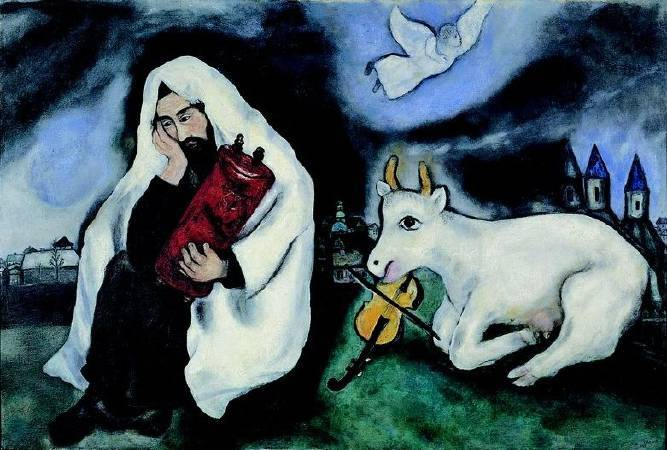 Marc Chagall,《Solitude》,1933。圖/取自 wikiart。