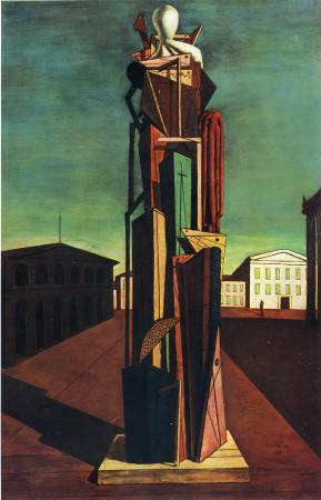 Chirico,《The Great Metaphysician》(偉大的形而上學者),1917。