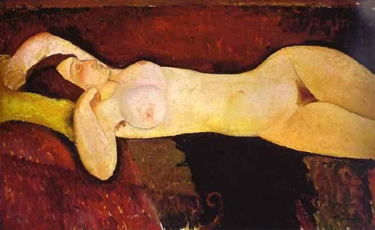 Amedeo Modigliani,《  le grand nu》 (the great-nude大裸婦),1917。