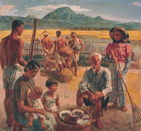 李石樵,《田園樂》,1946。